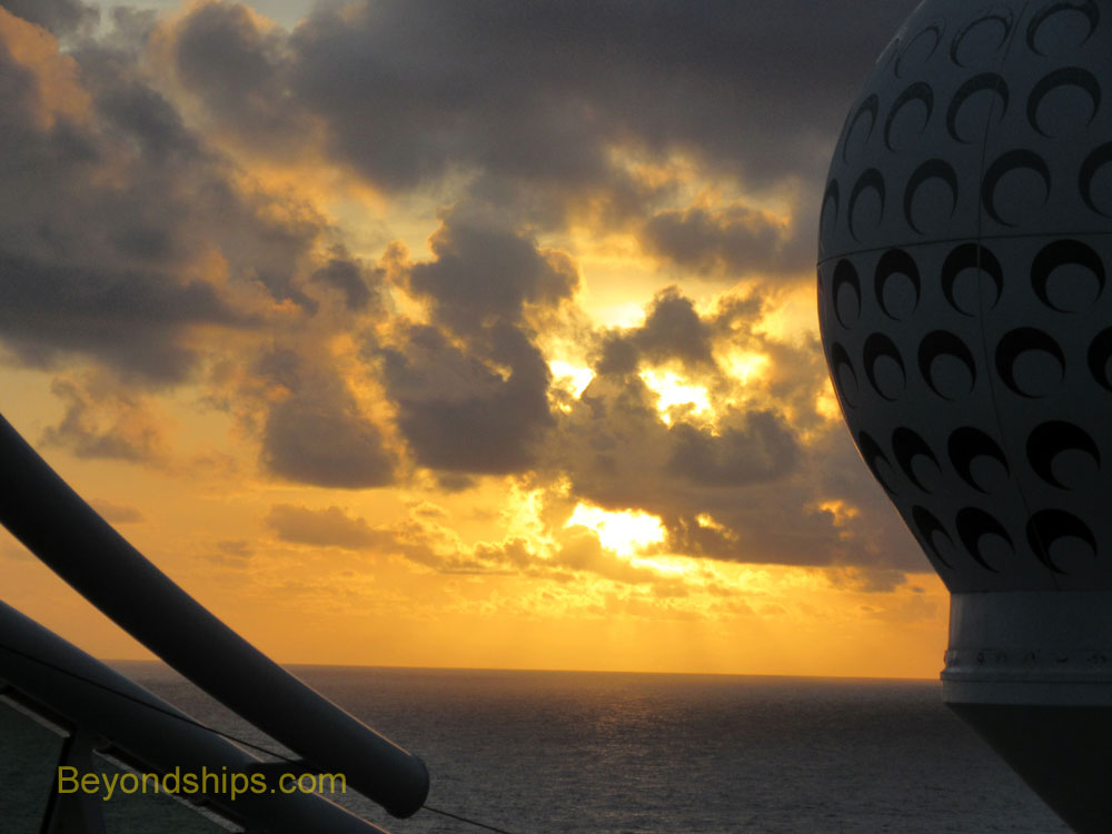 Liberty of the Seas cruise ship, sunset