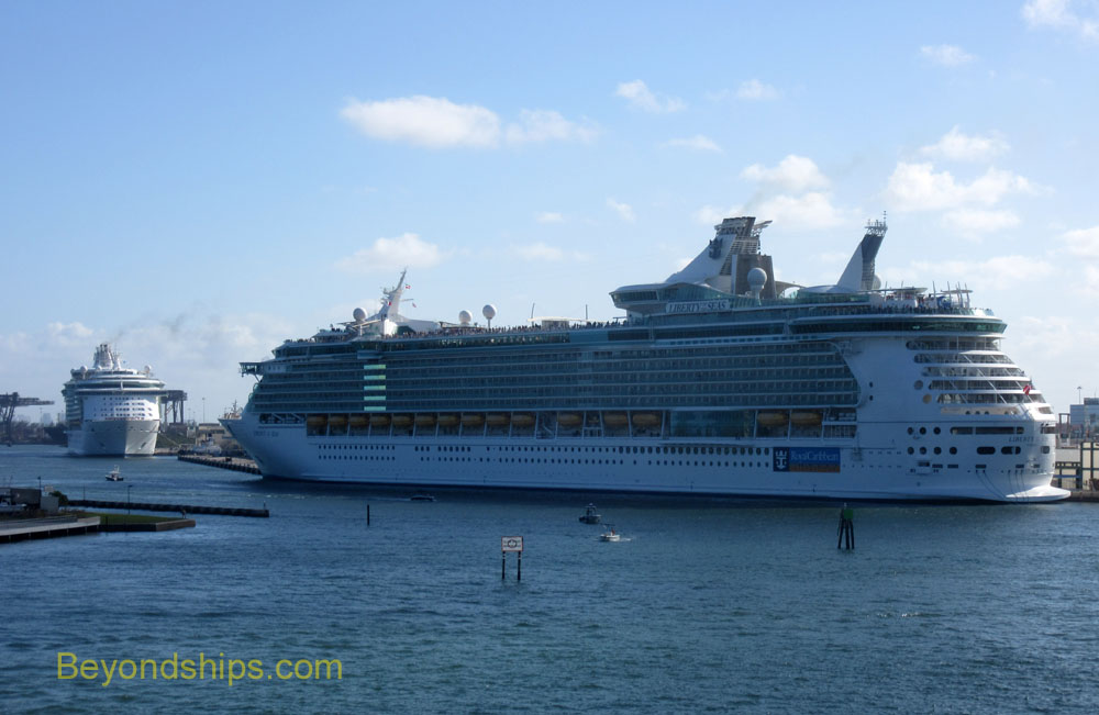 Liberty of the Seas and Independence of the Seas cruise ships