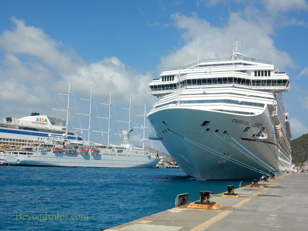 Wind Surf and Carnival Liberty cruise ships