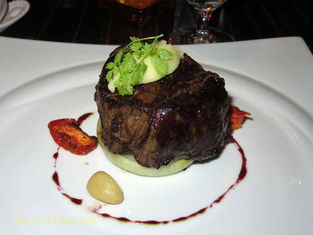 Steak on Carnival Vista, cruise ship