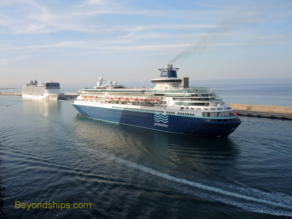 Sovereign and Norwegian Epic cruise ships