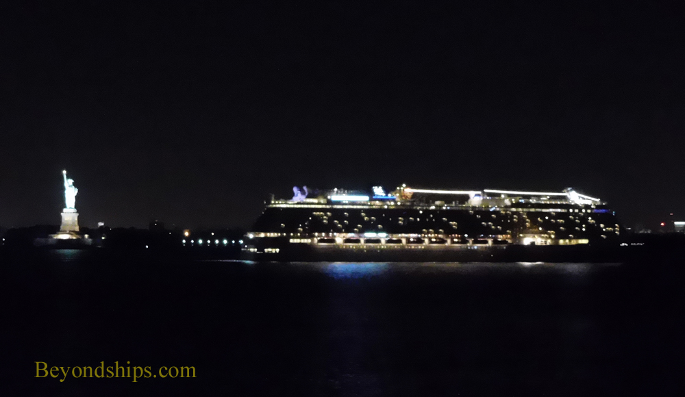 Norwegian Breakaway cruise ship with Statue of Liberty