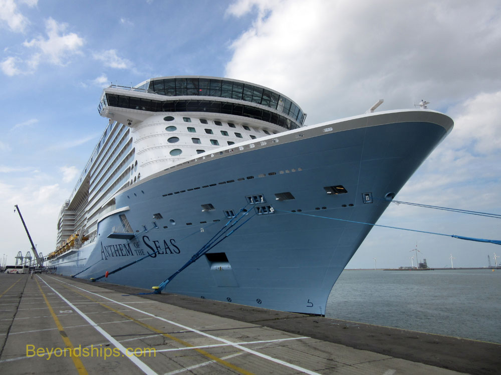 Cruise ship Anthem of the Seas in Zeebrugge