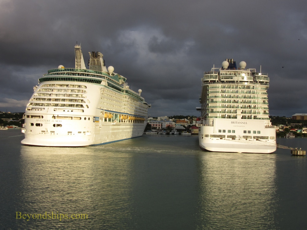 Britannia and Adventure of the Seas cruise ships