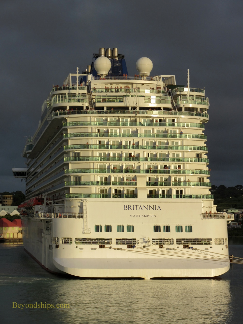 P&O Cruises' Britannia in Antigua