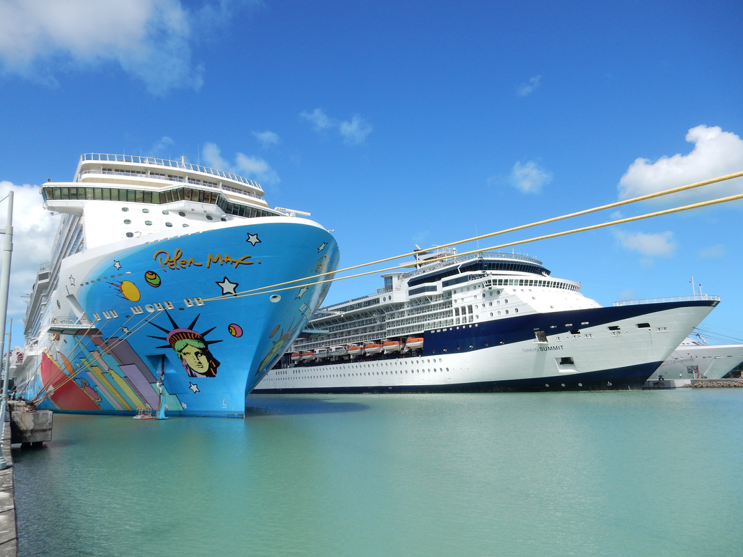 Norwegian Breakaway and Celebrity Summit cruise ships