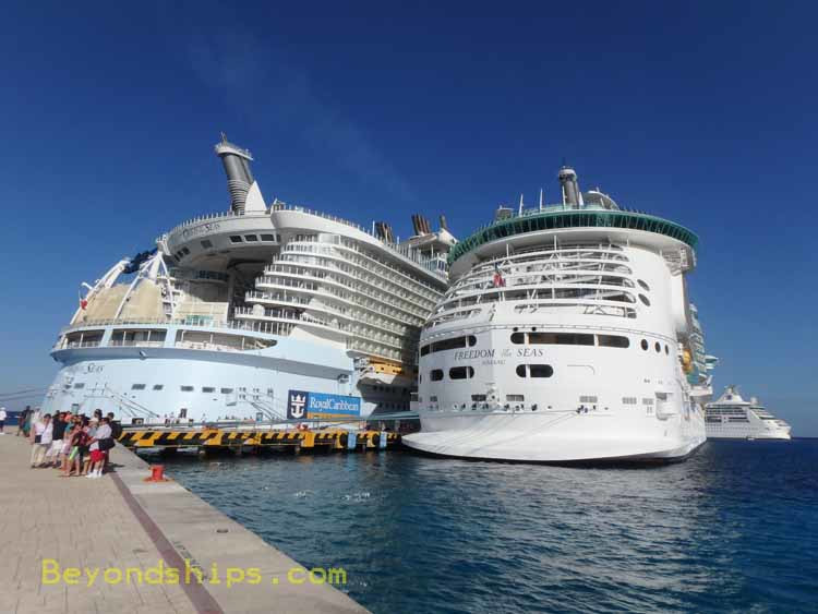 Oasis of the Seas and Freedom of the Seas cruise ships