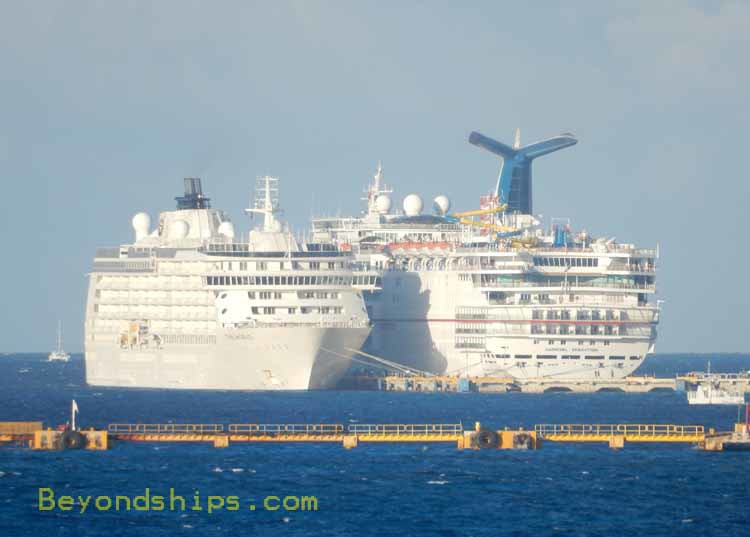 The World and Carnival Sensation cruise ships