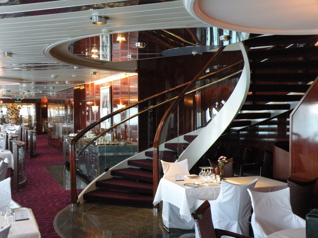 Dining room, Prinsendam cruise ship