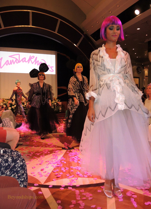 Fashion week show on Queen Mary 2