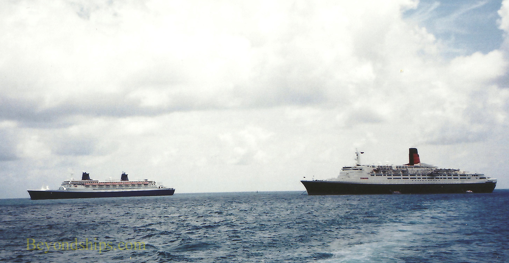 QE2 (Queen Elizabeth 2) and SS Norway ocean liners