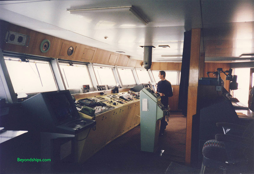 Bridge of QE2 ocean liner