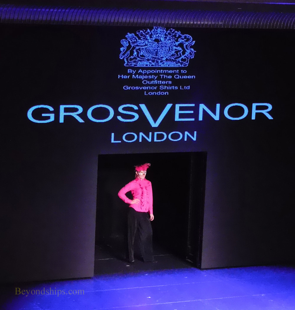 Grosvenor fashion show on Queen Mary 2