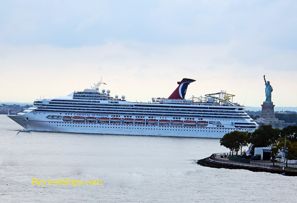 Cruise ship Carnival Sunshine in New York