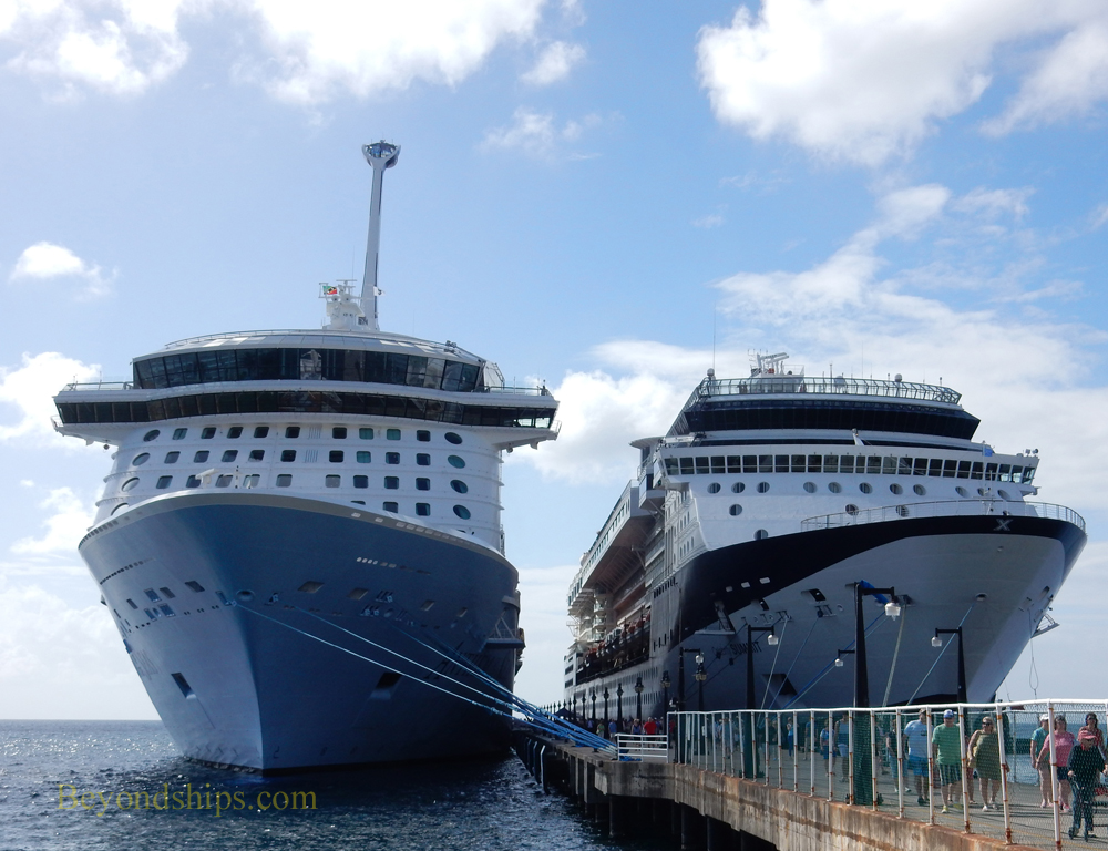 Anthem of the Seas and Celebrity Summit cruise ships