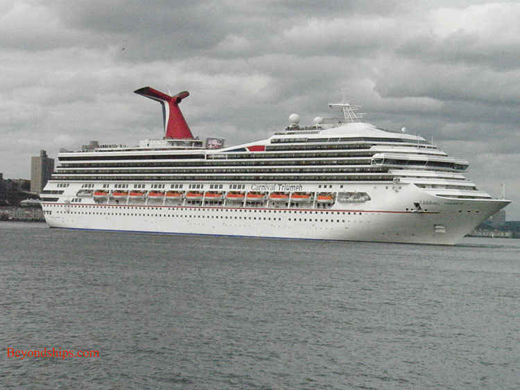 Cruise ship Carnival Triumph in New York