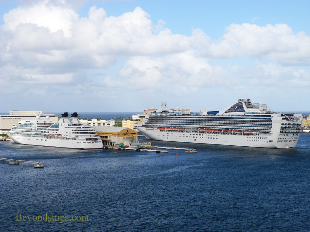 Cruise ship Sebourn Quest and Grand Princess