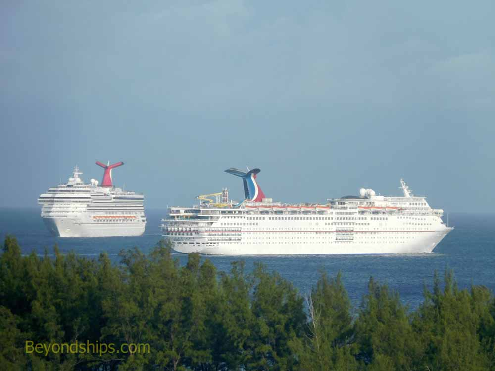 Carnival Ecstasy and Carnival Valor cruise ships