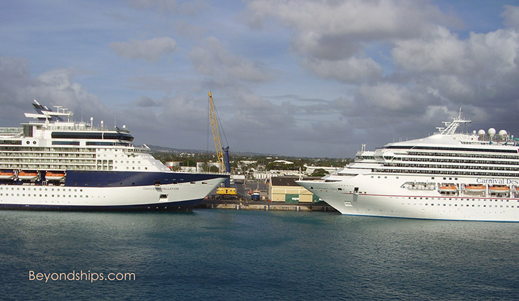 Cruise ships Celebrity Constellation and Carnival Destiny