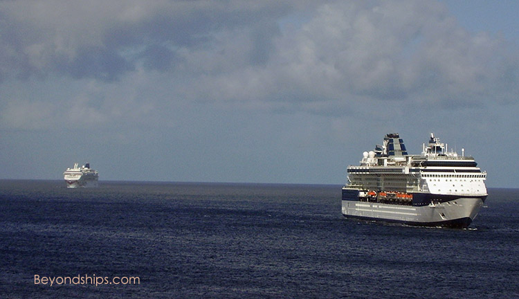 Cruise ships Celebrity Constellation and Norwegian Jewel