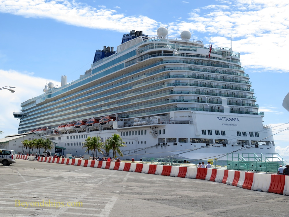 Britannia cruise ship in Aruba
