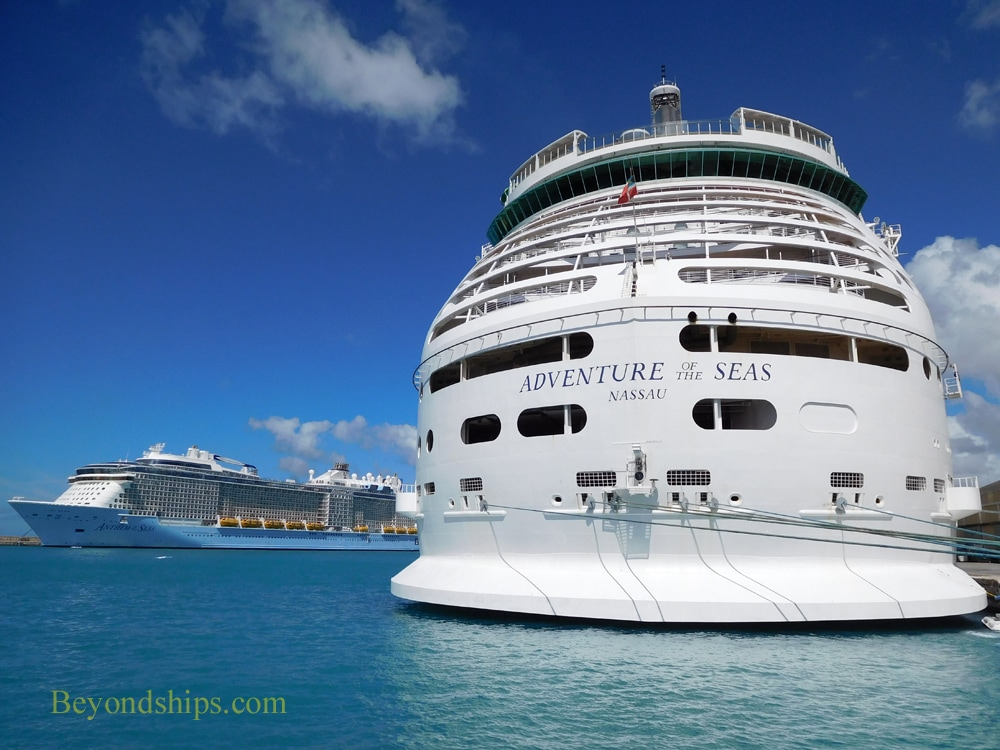 Anthem of the Seas and Adventure of the Seas cruise ship