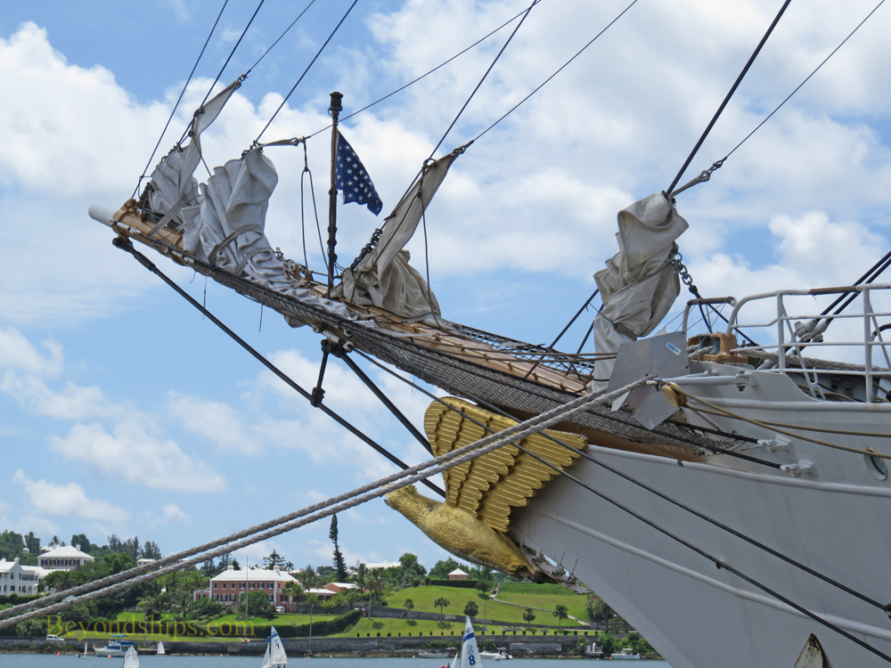 bow sprint and figurehead
