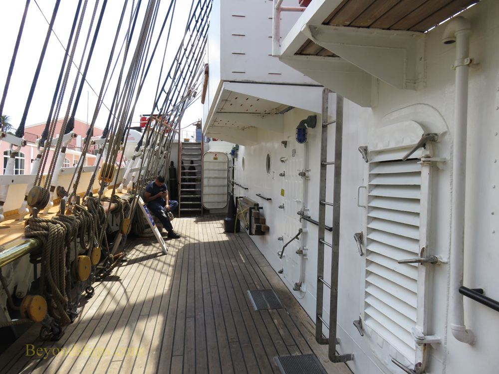 deck, USCGC Eagle, tall ship