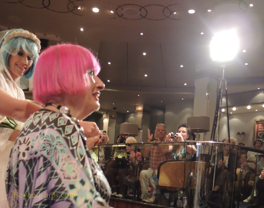Dame Zandra Rhodes on Queen Mary 2