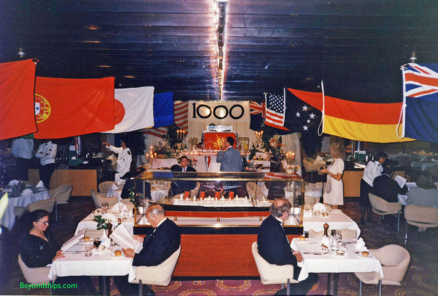 QE2 100th voyage, gala dinner