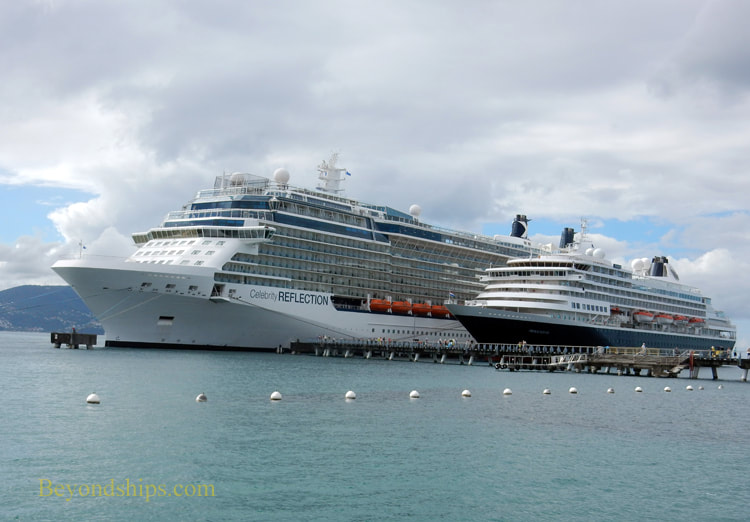 Cruise ships Celebrity Reflection and Prinsendam