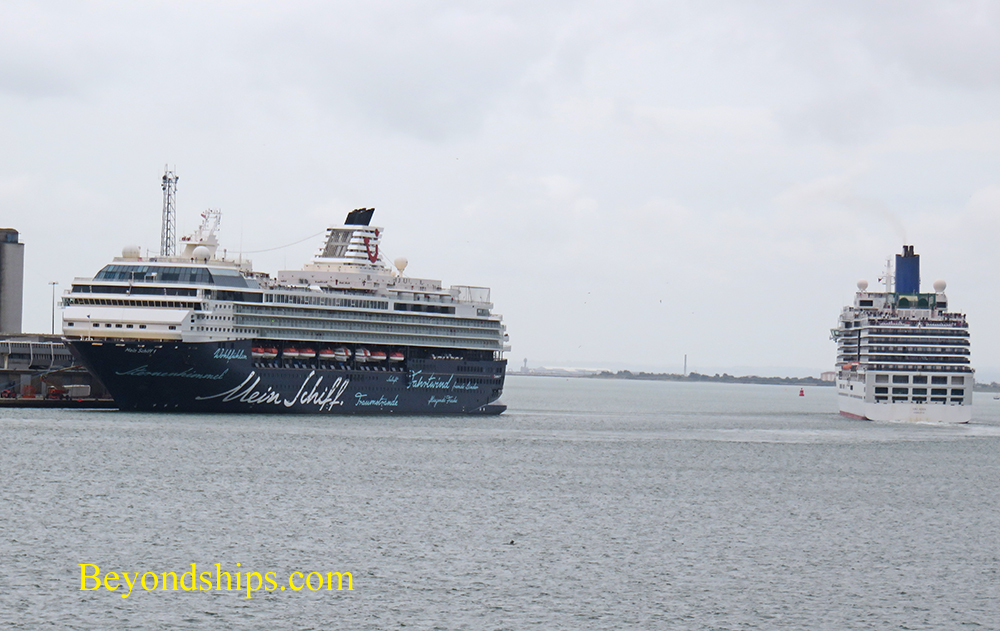 Mein Schiff I and Arcadia cruise ships