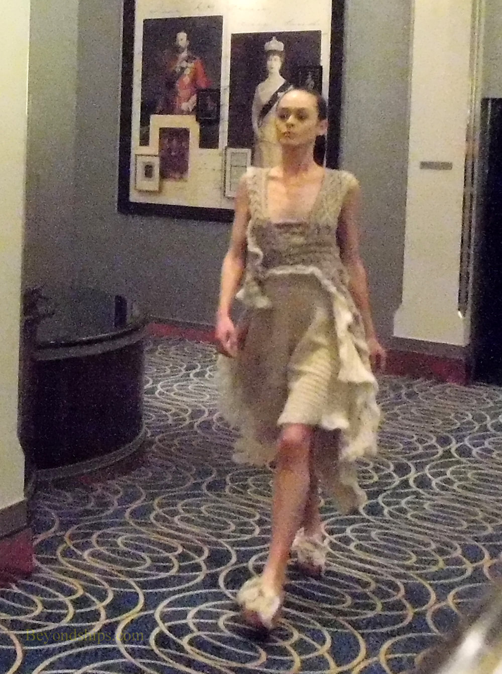Fashion show on Queen Mary 2