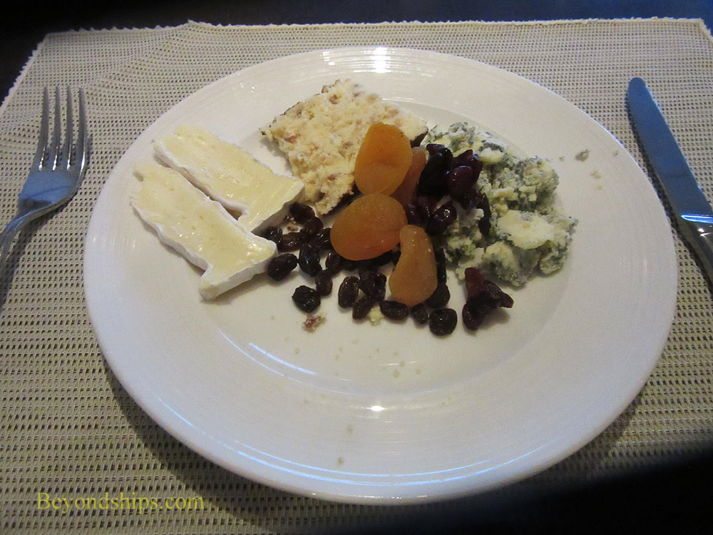Cheese plate on on Queen Mary 2
