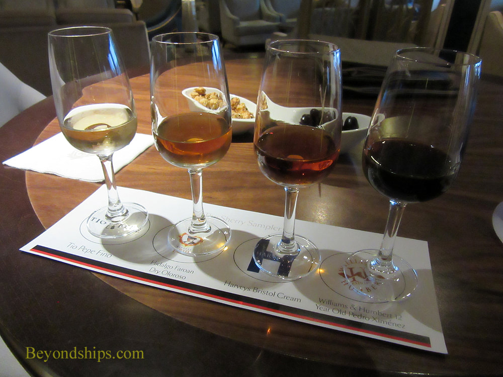 Sherry flight on Queen Mary 2
